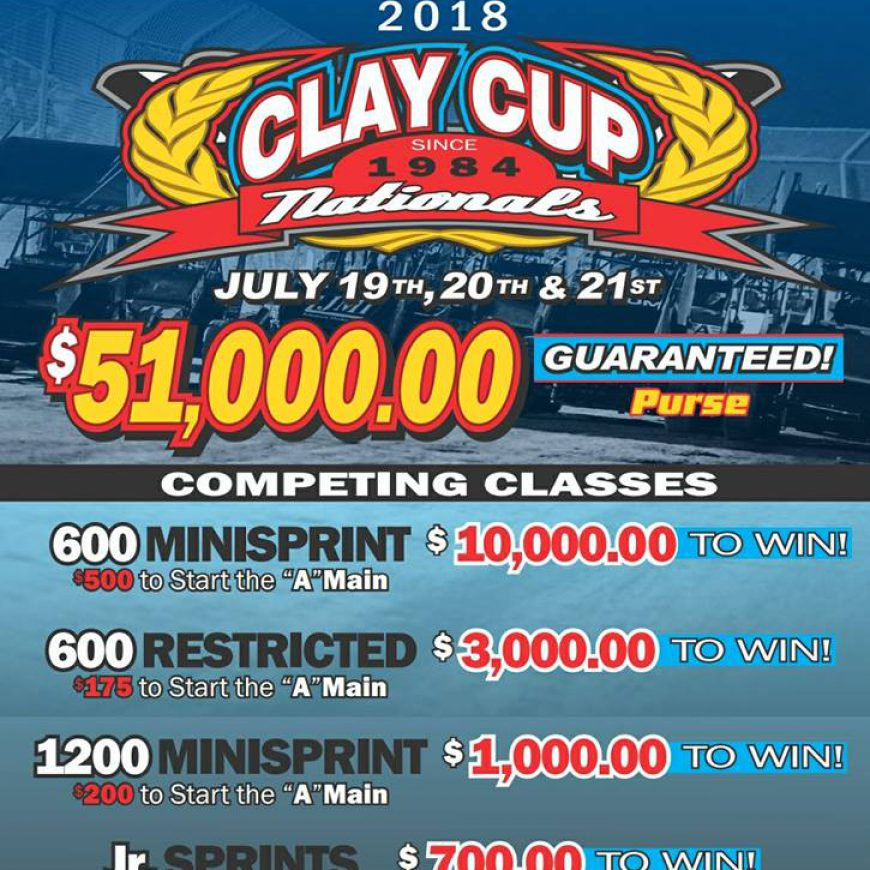 Start Planning for Clay Cup!