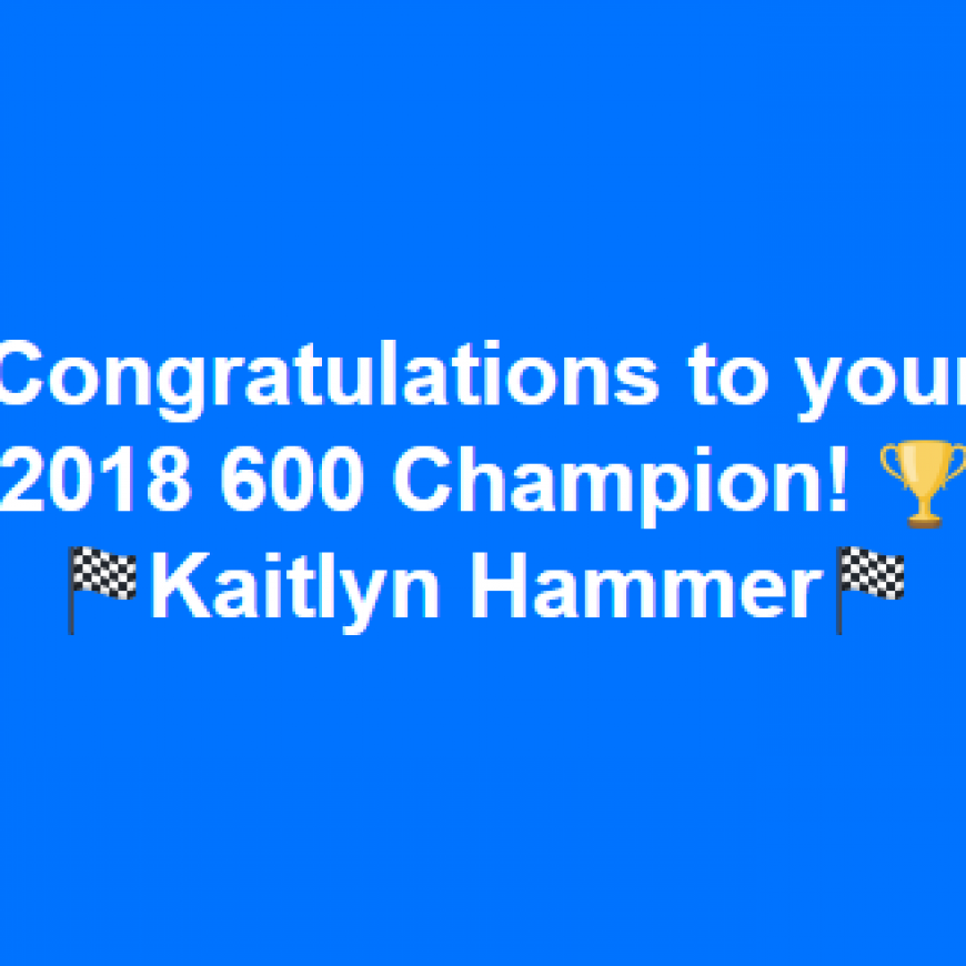 2018 SpeedMart Hoosier 600 Champion