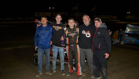 Bordon Wins Barnburner at Deming Speedway