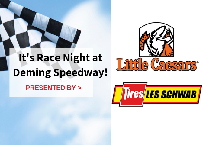 Les Schwab Tire Center and Little Caesars Night at the Races!