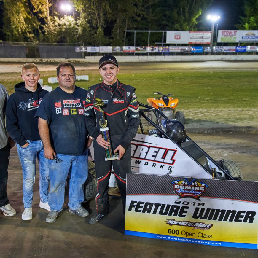 Crum Does the Double at Deming Speedway