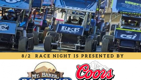 It's Coors Light & Mt. Baker Roofing Night at the Races!