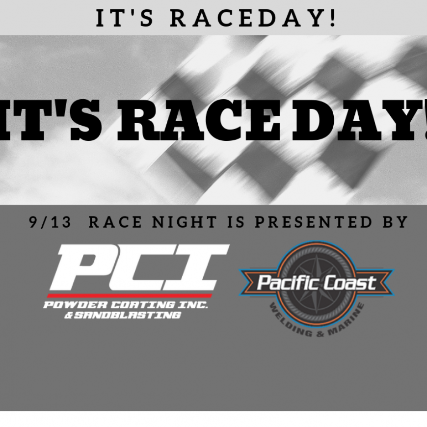 It's Powder Coating Inc. & Pacific Coast Welding and Marine night at the races